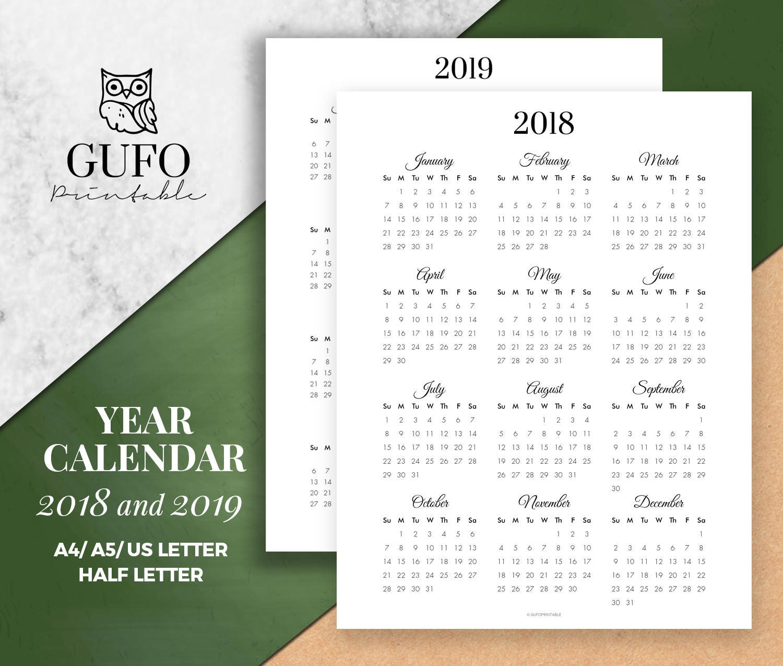 year at a glance 2018