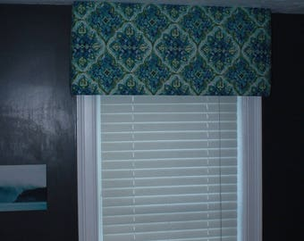 Custom cornice Valances