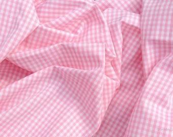 Vichy fabric pink checkered 2.5 mm Eco-Tex standard 100