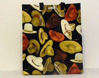 Limited Edition Market Line Bag in print Large Cowboy Hats