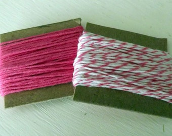 Deep Pink Solid Divine Twine Raspberry Twine 10 Yards Each 20 Yards Total