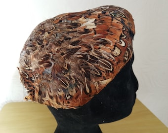 1930's pheasant feather hat