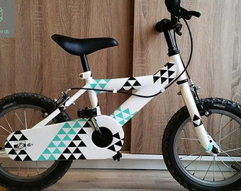 Bike Stickers / Triangle Design / Gift for kid / Bicycle Accessories