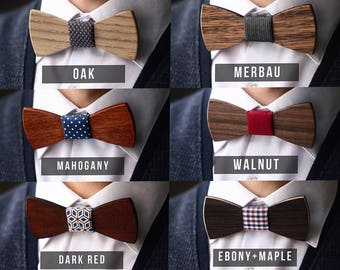 Father's day gift Wooden bow tie Wood bowtie  Father's day gift groom gift Groomsman gift boyfriend gift wedding bow tie