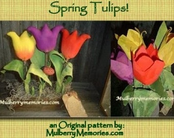 EPATTERN Fabric Tulips 2 styles Spring et