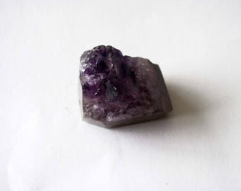 Pendant Amethyst slice natural 27x25x18mm
