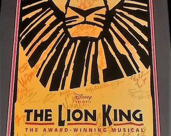 The Lion King Sign Cast Musical Poster