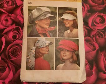 70's Vintage Hat Sewing Pattern