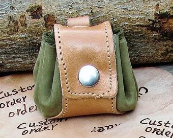 Personalized Keychain, Custom Keychain, Engraved Keychain,Mens women Tiny Leather Purse Keychain, Keyring, Keyfob,  Keyholder
