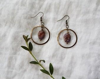 earrings - agate