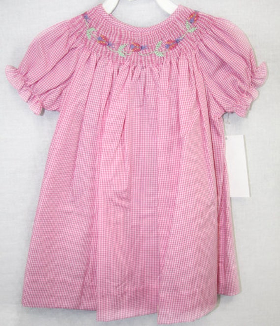 fff8aed18 Childrens Dresses Smocked Baby Girl Clothes Summer Bishop