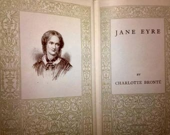 Antique Jane Eyre by Charlotte Bronte - Oxford Uni Press - 1900s