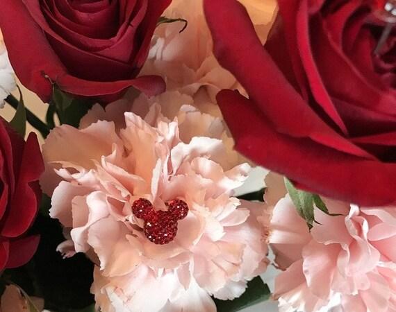 Mickey Mouse Wedding Flower Pins Ears-Bouquet Picks-Disney Inspired Wedding Flower Pins