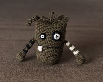 Alfie the Mini Monster; stress ball, amigurumi, crocheted, crocheted critter, executive toy, softie, gift.