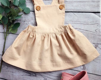 Vintage Pinafore with ruffled straps