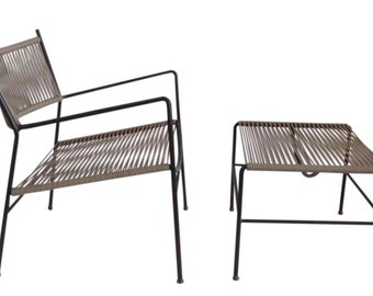 Outdoor Patio Chair and Ottoman Mid Century Modern Patio Furniture Vintage Outdoor Patio Furniture
