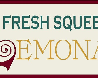 Fresh Squeezed Lemonade Stencil 7 mil  Mylar Reusable