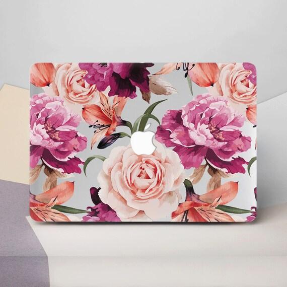 Flowers Macbook Air 11 Case Floral Macbook 12 Cover Case Macbook Pro 13 2016 Mac Pro 15 2017 Case For Macbook Air 13 Macbook Air Case Cg2064 by Etsy