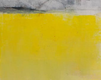 Nordic Landscape 2, Monotype, 30 x 40 cm, original image, special gift, wall decoration, optional with frame