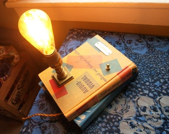 Stack of Books Table Lamp - A/V and Mathematics Text Books