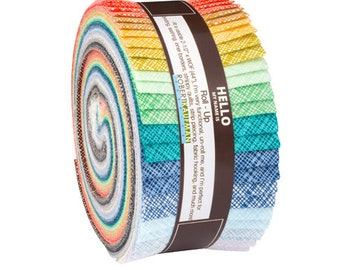 Kaufman Fabric Strips Jelly Roll Rollup, Architextures, RU-608-40