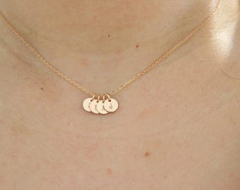 Initial necklace, letter necklace, Gift for mom, sister gift, gift for best friend, rose gold necklace, dainty necklace, delicate necklace