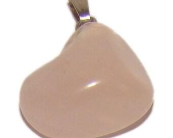 Natural Pink Quartz pendant / necklace. Freeform. Stone of love. Russia