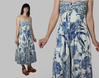 50s Cotton Sun Dress Marjae XS