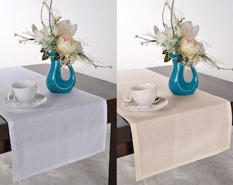 Wedding table runner white beige Cotton decor handmade party table decor table centerpiece decoration wedding linens