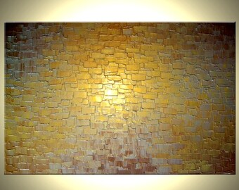 Gold Palette Knife Painting, Original Abstract Art, Bronze Large Painting, by Lafferty - 24X36, Mothers Day Gift, Mothers Day Sale