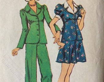 Simplicity 6221 junior misses jacket, skirt and pants size 11/12 bust 32 waist 25 vintage 1970's sewing pattern