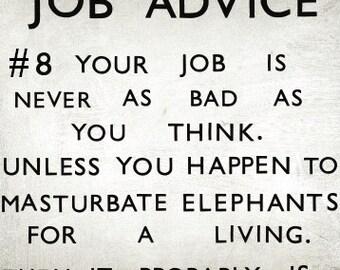 Funny work / new job card