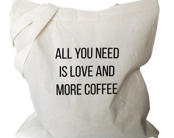 Tote Bags, Coffee Tote Bag, Coffee Gifts, Canvas Tote Bags