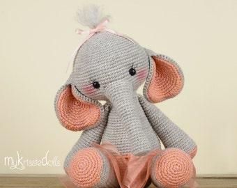 Crochet Pattern - Elephant Nina