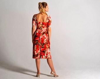 MALENA poppy tango dress, S-L