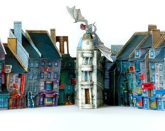 DIAGON ALLEY PAPERCRAFT - Cut & Assemble Paper Model Kit