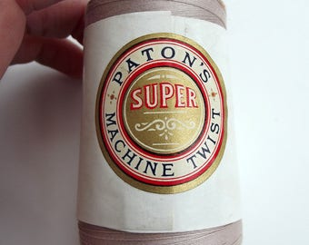 Vintage Chunky Patons Super Machine Twist Sewing Thread - Craft Supplies