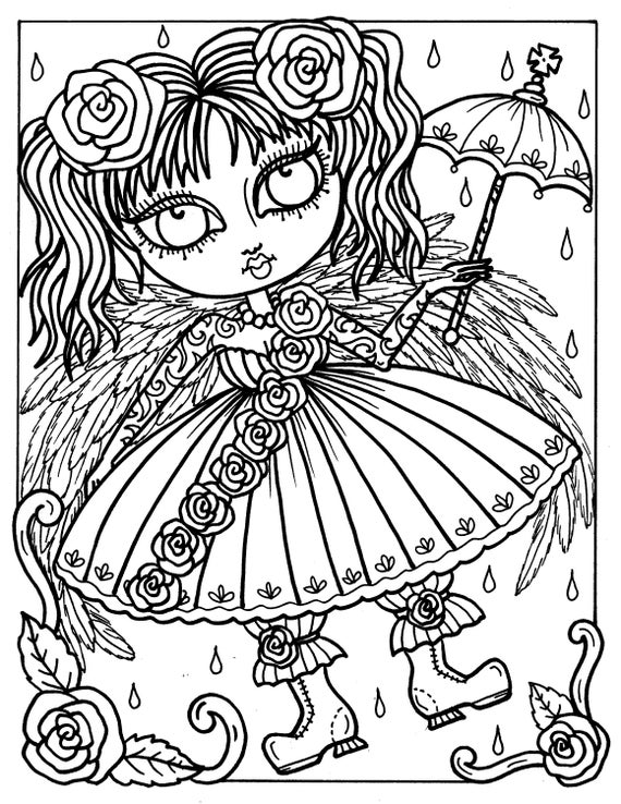gothic print out coloring pages - photo#4