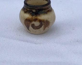 """Dollhouse Miniature 1"""" Scale Porcelain  Crock"""