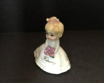 Miniature Bone China February Girl