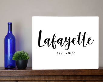 LARGE Personalized Family Last Name Sign - Farm house Farmhouse Metal Sign Wall Art Print Wedding gift Housewarming present