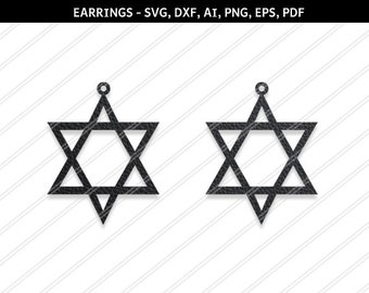 Star earrings svg,Abstract earrings,Jewelry svg,leather jewelry,Cricut silhouette,Earrings vector,SVG earring,svg,dxf,ai,eps,png,Laser cut