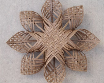 xxl Woven Star Christmas ornament extra large snowflake chubby chevron twill sculpture tree topper