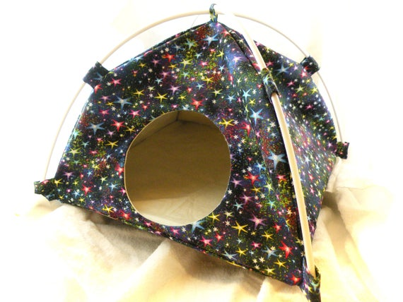 Twinkle Stars Large Tent Sleep Sack Bed for Hedgehogs Rats Guinea Pigs Ferrets