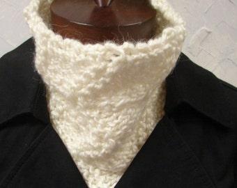 Pattern Knit Cowl, Neck Warmer, Hand Knit The Cozy Cowl Neckwarmer Pattern