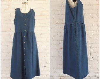 Vintage Northern Reflections Denim Jumper dress, Size medium