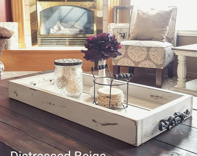 Magazine Tray - Coffee Table Tray - Farmhouse Tray - Bed Tray - Breakfast Tray - Decorative Tray - Tray For Coffee Table - Tray