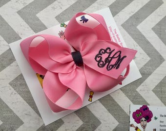 Monogrammed Boutique Hair Bow
