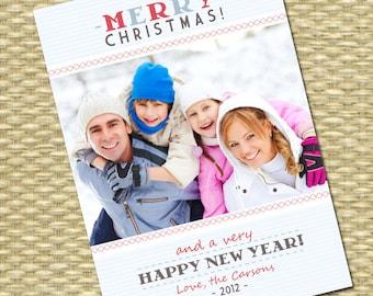 Modern Christmas Photo Card Holiday Photo Card Christmas Card with Photo Custom Christmas Photo Card Custom Holiday Photo Card