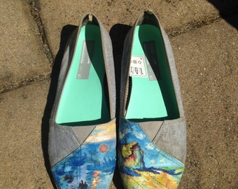 Painted shoes - custom Monet shoes